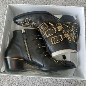 Chloé Susanna leather studded boots